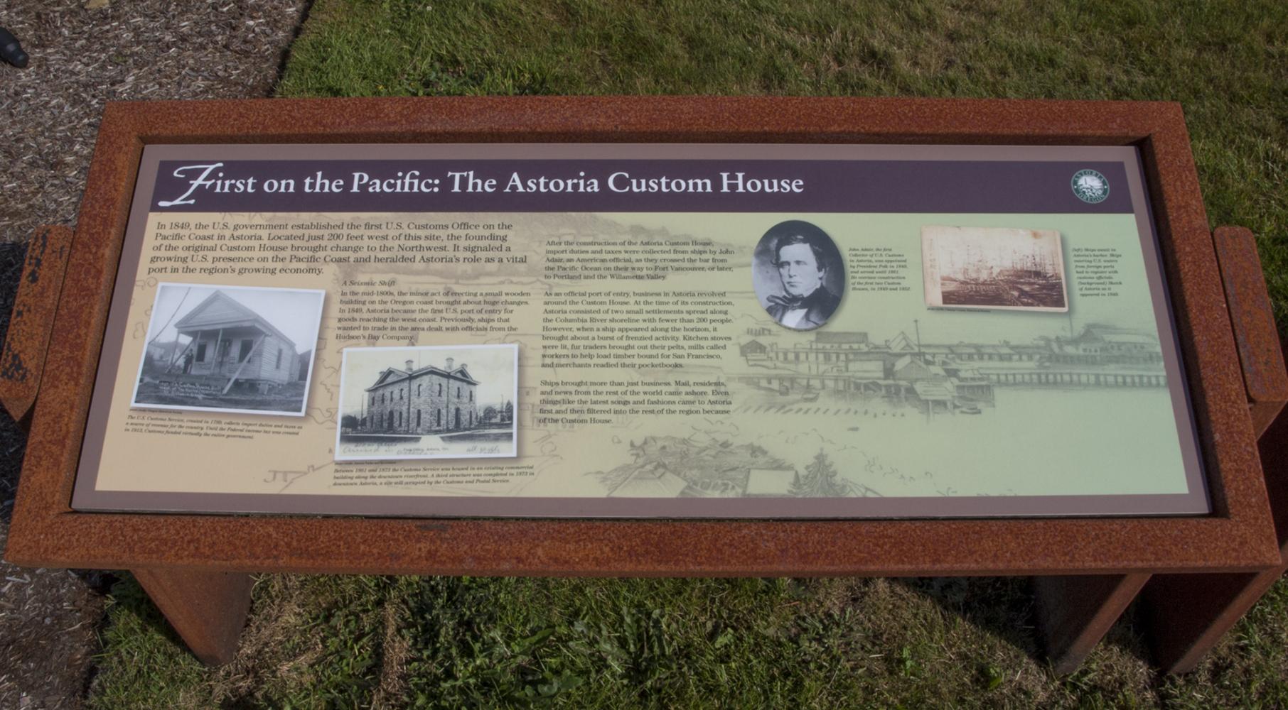 Astoria Custom House - Exhibit Panel 1
