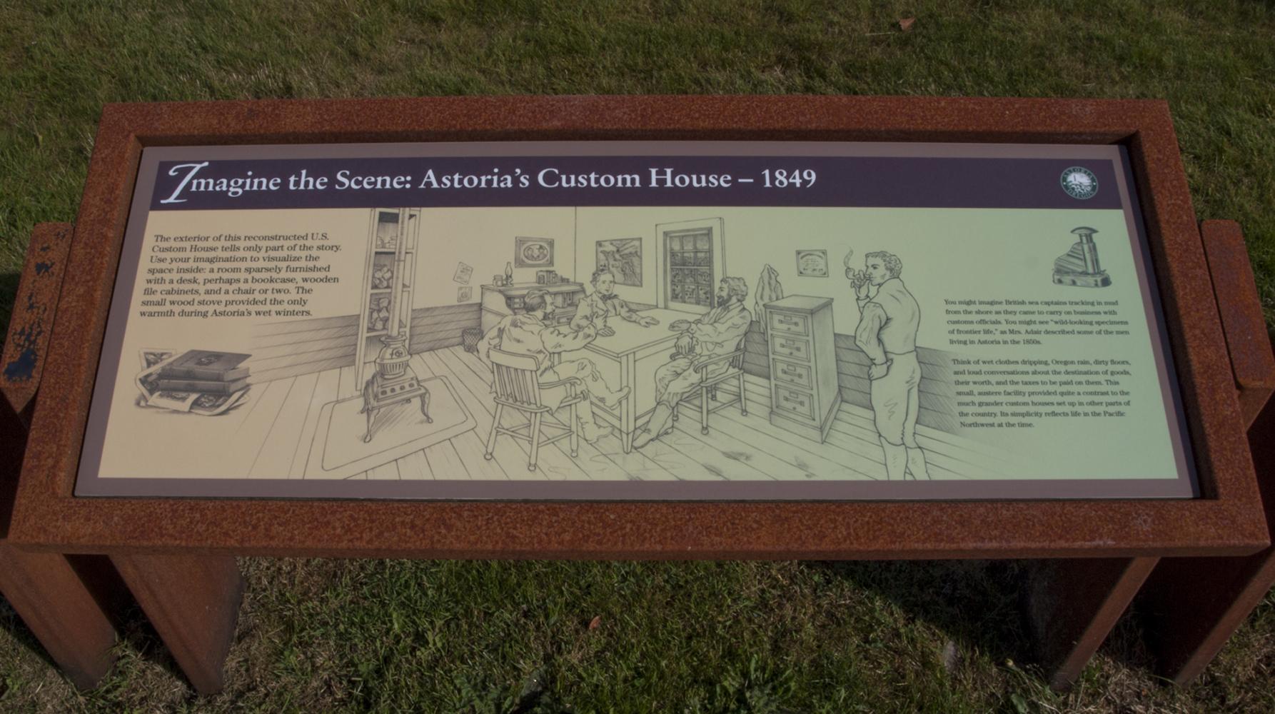 Astoria Custom House - Exhibit Panel 2