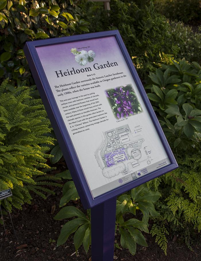 Rogerson Clematis Garden - Heirloom Garden Sign