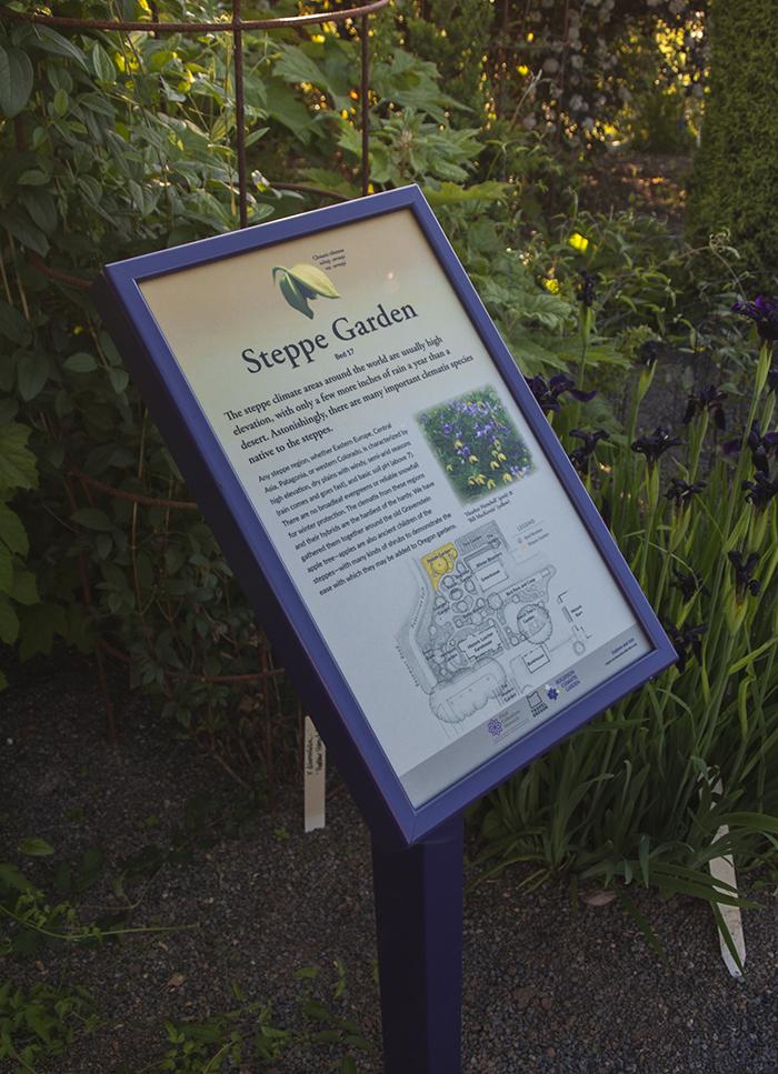 Rogerson Clematis Garden - Steppe Garden Sign