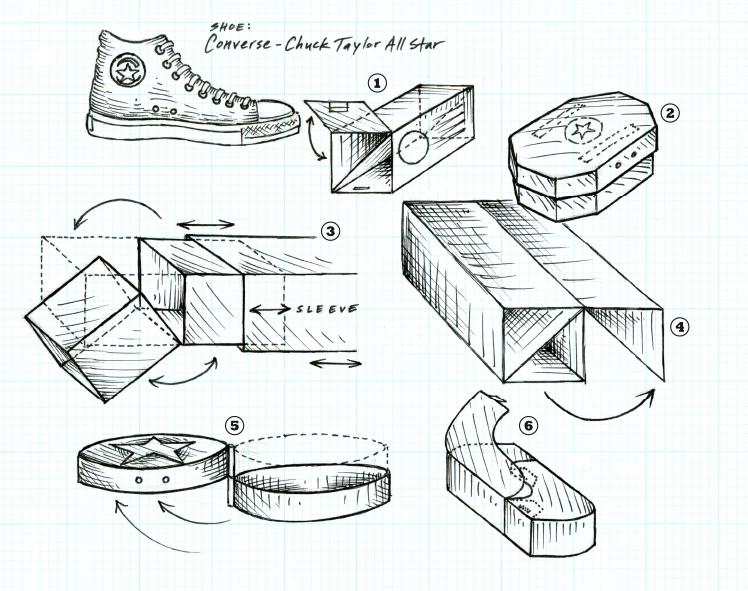 Converse Shoe Box - Concept Sketches