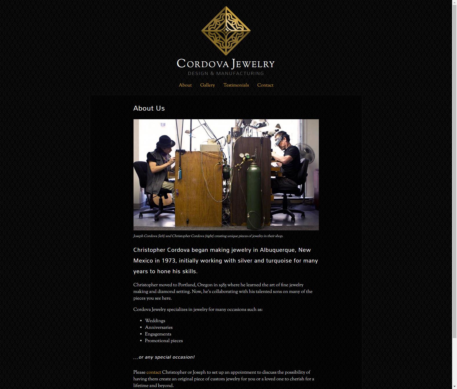Cordova Jewelry - About Page