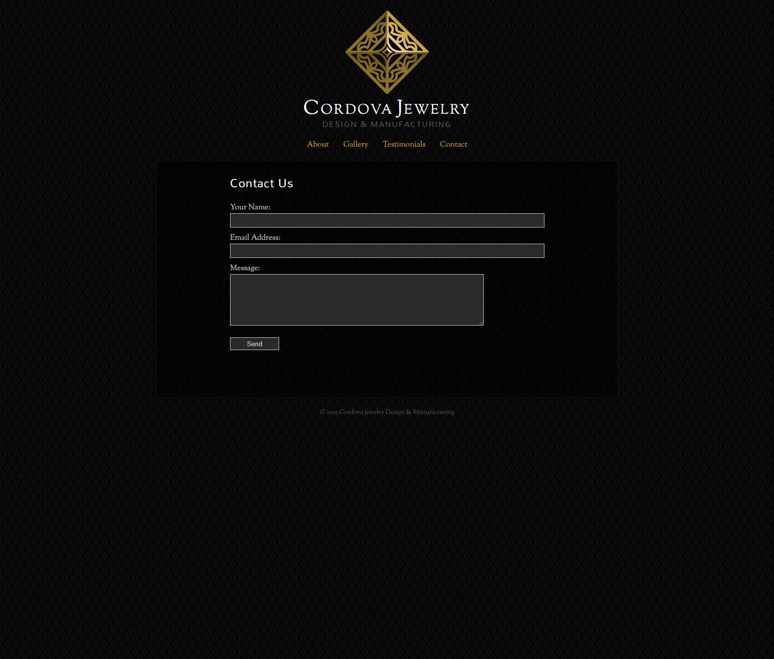 Cordova Jewelry - Contact Page