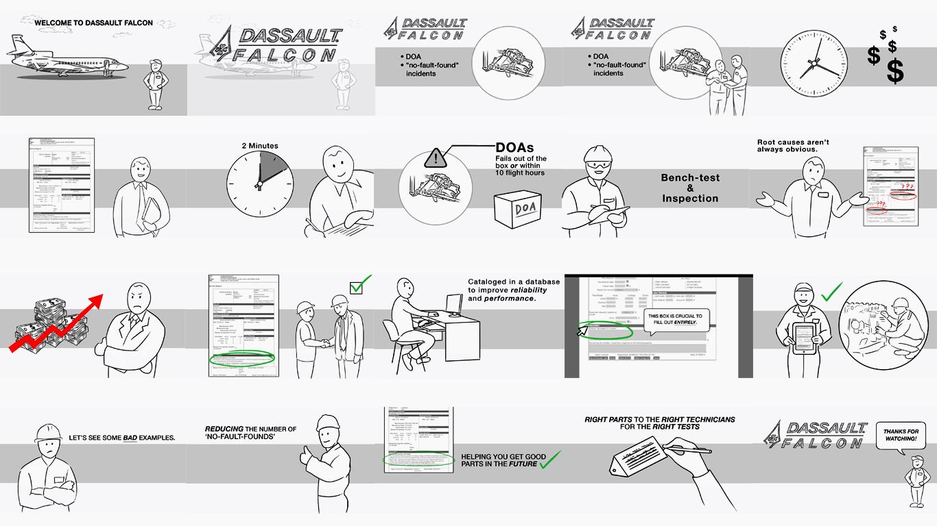 Dassault Falcon - Concept Sketches