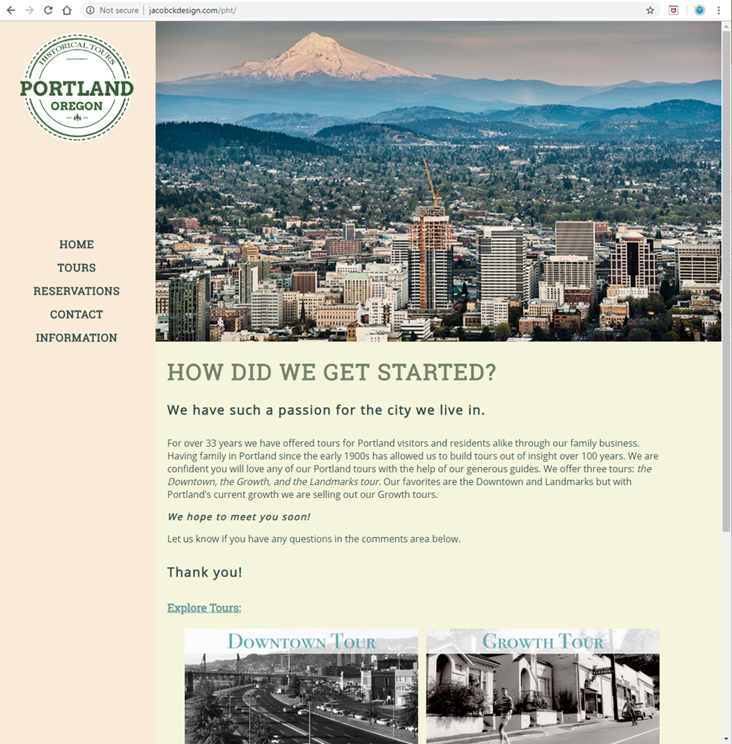 Portland Historical Tours - Home Page