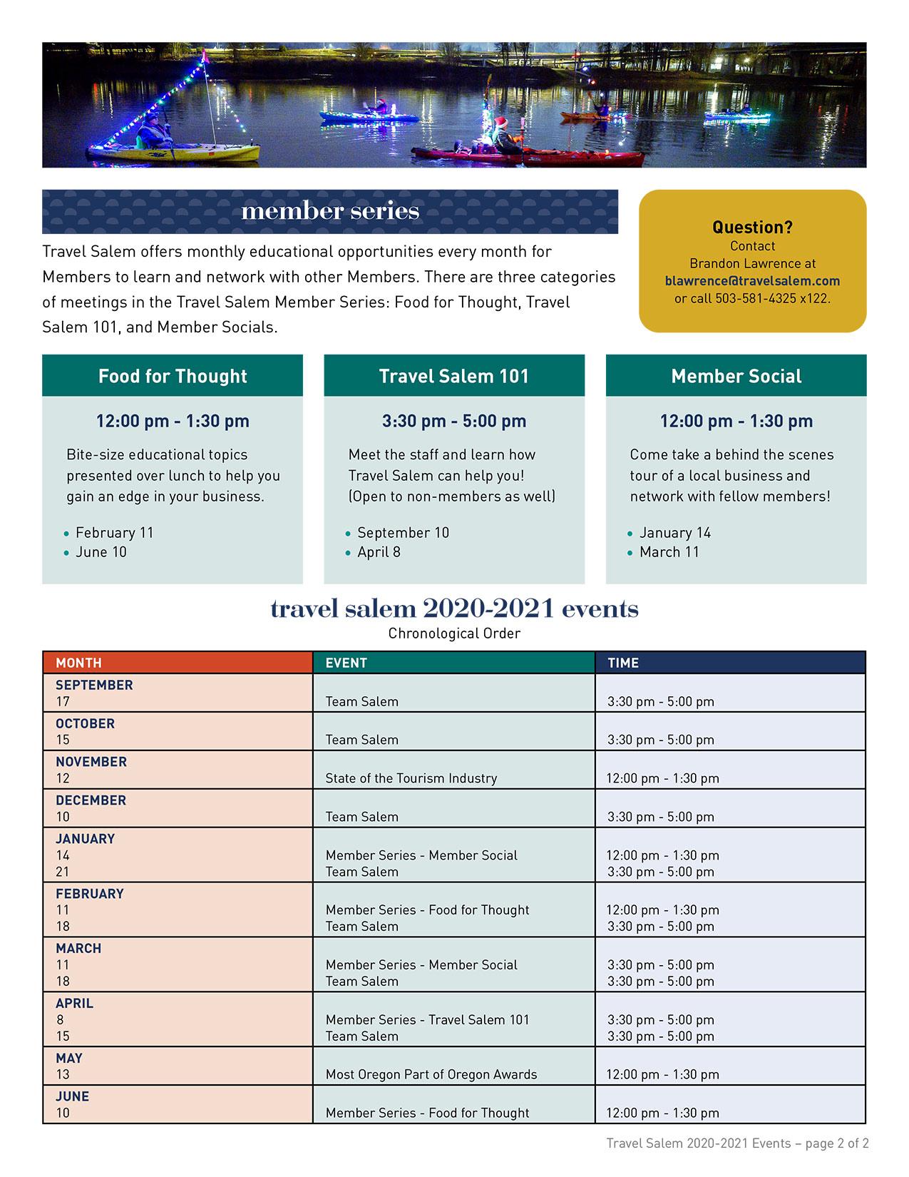 Travel Salem 2020 Save the Date Document